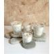 Vela de masaje RELAJANTE ecológica cera SOJA,manteca de karité y aceite coco BIO varios tamaños