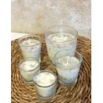 Vela de masaje AFRODISIACA-SENSUAL ecológica cera SOJA,manteca de karité y aceite coco BIO varios tamaños