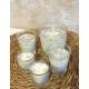 Vela de masaje SENSUAL AFRODISIACA ecológica cera SOJA,manteca de karité y aceite coco BIO varios tamaños
