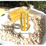 Velas de cumpleaños 10x0,5cm, 5uni. Cera pura panal de abeja