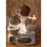 Fuente COCO Interior-Exterior. Piedra natural con LUZ LED. Artesanal
