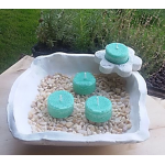 Vela de Té ALBAHACA cera vegetal, aromatica, Grande 20ml, 4 unidades