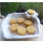 Vela de Té CANELA cera vegetal, aromatica, Grande 20ml, 4 unidades