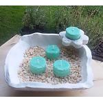 Vela de Té MENTA cera vegetal, aromatica, Grande 20ml, 4 unidades