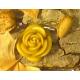 Vela flor Rosa cera pura de abejas 30gr