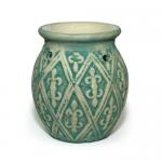 Quemador de aceites y ceras aromáticas Cerámica Oriental Verde