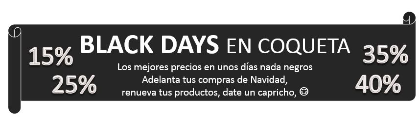 black days coqueta cosmetica natural