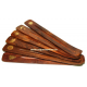 Soporte de incienso de madera con cobre incrustado