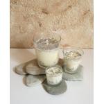 Vela de masaje DOLORES MUSCULARES ecológica soja,manteca de karité y aceite coco BIO varios tamaños
