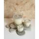 Vela de masaje DOLORES MUSCULARES ecológica cera SOJA, manteca de karité y aceite coco BIO varios tamaños