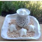 Pastilla COCO cera de SOJA NATURAL para quemadores, ecológica 20ml, 1-4 unidades
