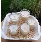 Vela de masaje ANTICELULÍTICA ecológica cera SOJA,manteca de karité y aceite coco BIO varios tamaños