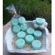 Vela de Té EUCALIPTO cera vegetal, aromatica, Grande 20ml, 4 unidades