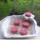 Vela de Té ROSAS cera vegetal, aromatica, Grande 20ml, 4 unidades