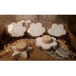 Portavelas Flor Natural. Pasta de Piedra. Artesanal