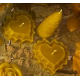 Vela Corazón doble cera pura de abejas, 50gr