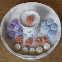 5 Bomboncitos cera soja perfumada quemadores, Ambientador Natural Aromas variados, 30gr