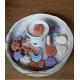 6 Figuras cera soja perfumada quemadores, Ambientador Natural Aromas variados, 65gr