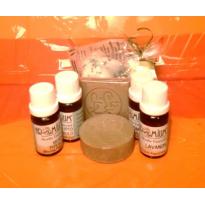 Lote  jabón de alepo puro auténtico y aceites esenciales aromáticos