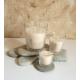 Vela de masaje cera SOJA aroma NATURAL, ecológica varios tamaños