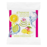 Toallitas desmaquillantes con Aloe Vera, Naranja y Mango 25uni, Benecos