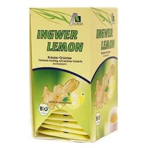 Infusión Jengibre, Limón y Te Verde BIO-ECO 20 sobres, Avitalae