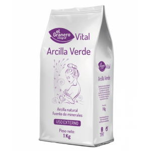 Arcilla Verde mascarilla 1 kilo, El Granero Integral