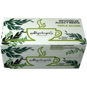 Infusión Algas y Menta TRIPLE ACCIÓN ECO 30 sobres, Algologie