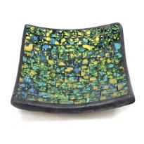 Jabonera mosaico Musgo y Agua artesanal