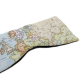Almohadilla Ojos Mapa Mundi relajante. Trigo y Lavanda. Frio y calor