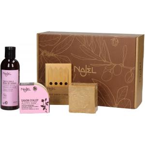 Cofre regalo REINA DE LAS ROSAS, set regalo 4 productos Najel