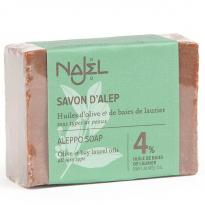 Jabon Alepo 4-Laurel 96-Oliva 155gr, Najel. Piel seca