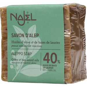 Jabon Alepo 40 Laurel 60 Oliva 185gr, Najel: psoriasis, dermatitis, atopica, grasa